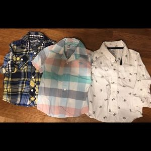 Carter's and OshKosh button up collared shirts